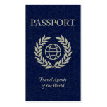 travel agents passport business cards