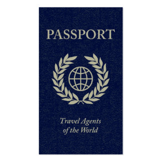 travel agents passport Double-Sided standard business cards (Pack of 100)
