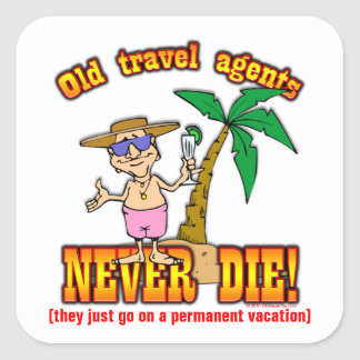 Travel Agents Square Stickers