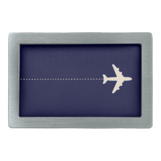 travel airplane with dotted line belt buckle