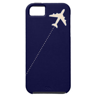 travel airplane with dotted line iPhone SE/5/5s case