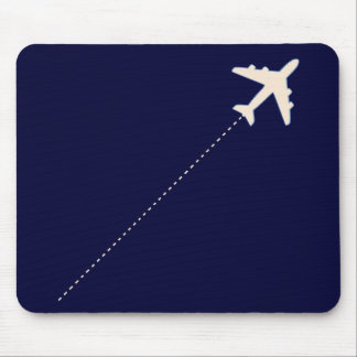travel airplane with dotted line mouse pad