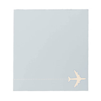 travel airplane with dotted line notepad