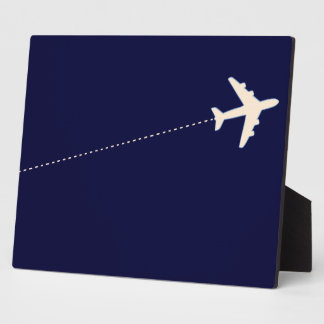 travel airplane with dotted line plaque