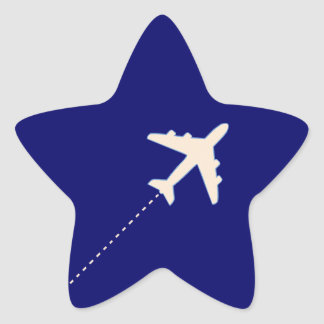 travel airplane with dotted line stickers