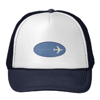 travel airplane with dotted line trucker hat