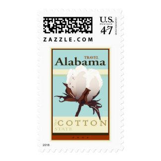 Travel Alabama Postage Stamp