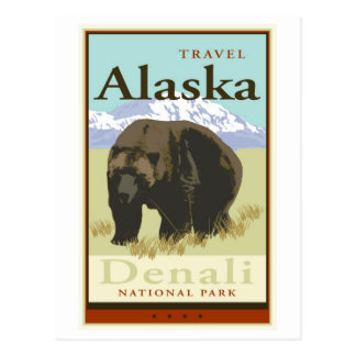 Travel Alaska Postcard