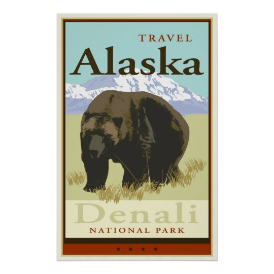 Travel Alaska Poster