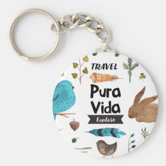 Travel and explore watercolour keychain