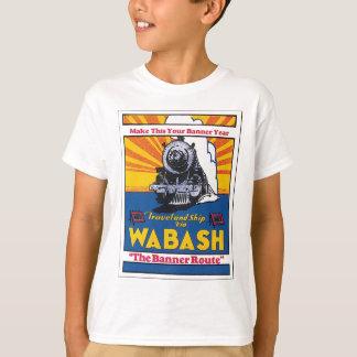 Travel and Ship Via Wabash T-Shirt