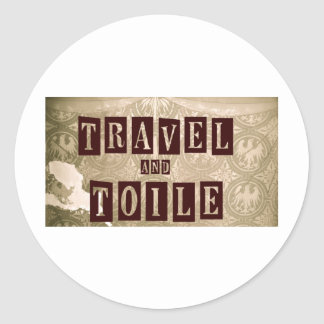 Travel and Toile New Logo Classic Round Sticker