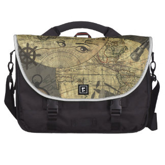 Travel around the world laptop messenger bag