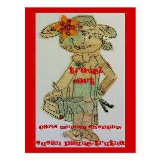 Travel Art Postcard