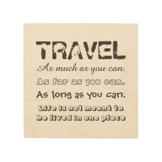 Travel as much as you can... wood wall art