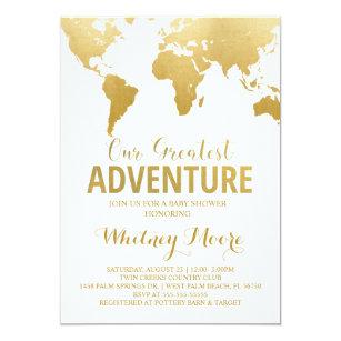 travel baby shower invitations