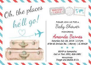 airplane invitations zazzle