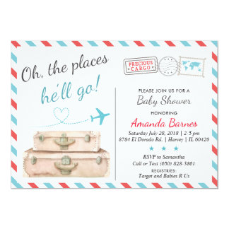 Travel Baby Shower Invitation, Airplane Invites