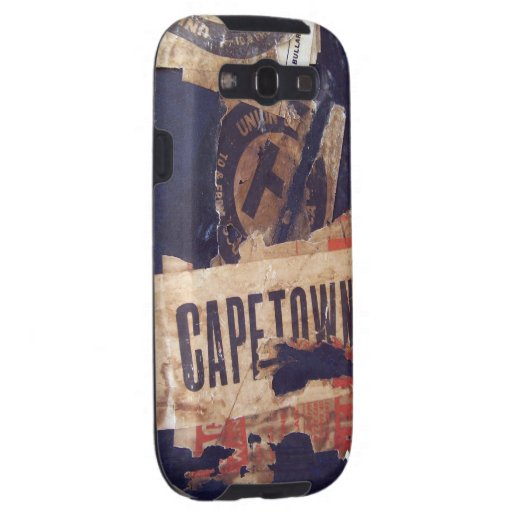 Travel baggage Stickers Tags & Labels - Grunge Tex Galaxy S3 Case