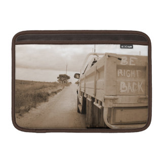 Travel be right back landscape dirt road sky ute sleeve for MacBook air