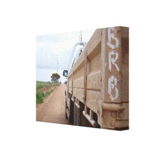 Travel BRB gravel track landscape sky ute Canvas Print