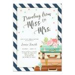 Travel Bridal shower invitation Miss to Mrs Navy