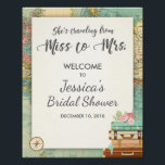 "Travel Bridal shower Welcome Sign Miss to Mrs<br><div class=""desc"">♥ A nice way to welcome your guests to your bridal shower! Miss to Mrs theme.</div>"