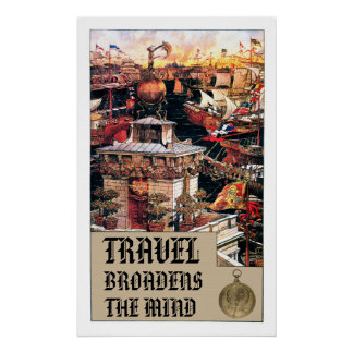 Travel Broaden The Mind - Print