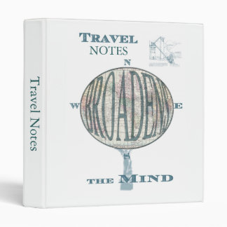 Travel Broadens the Mind Binder