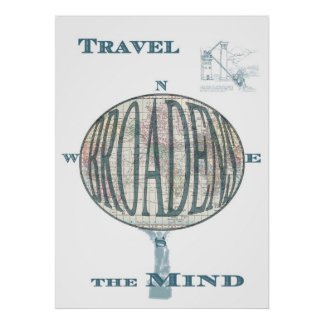 Travel Broadens the Mind Print