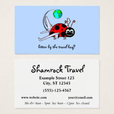 Travel Bug - Lady Bug Airplane - Travel Agency Business Card at Zazzle