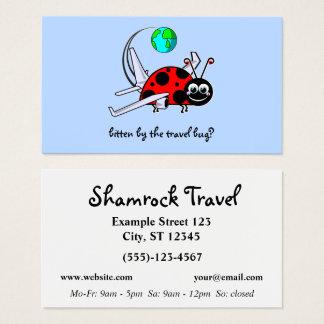 Travel Bug - lady bug airplane - Travel Agency Business Card