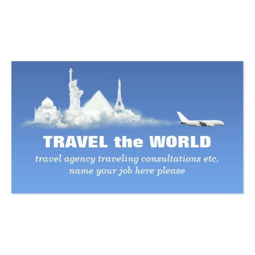 travel business card zazzle