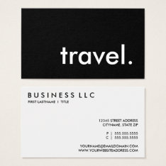 Travel. Business Card at Zazzle