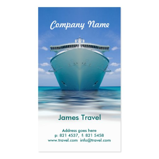 travel business card template zazzle