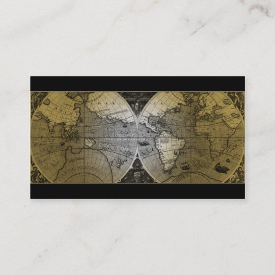 Travel business card world map globe gold zazzle travel business card world map globe gold gumiabroncs Images