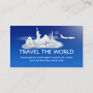 Travel agency business cards zazzle travel business card colourmoves