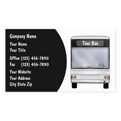 party bus rental business card templates bizcardstudio. Black Bedroom Furniture Sets. Home Design Ideas