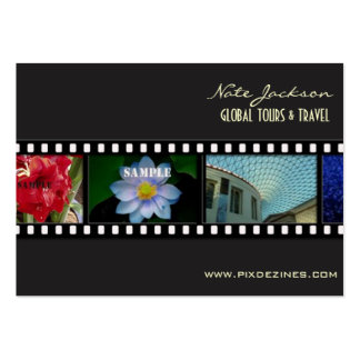 Travel business cards photos template