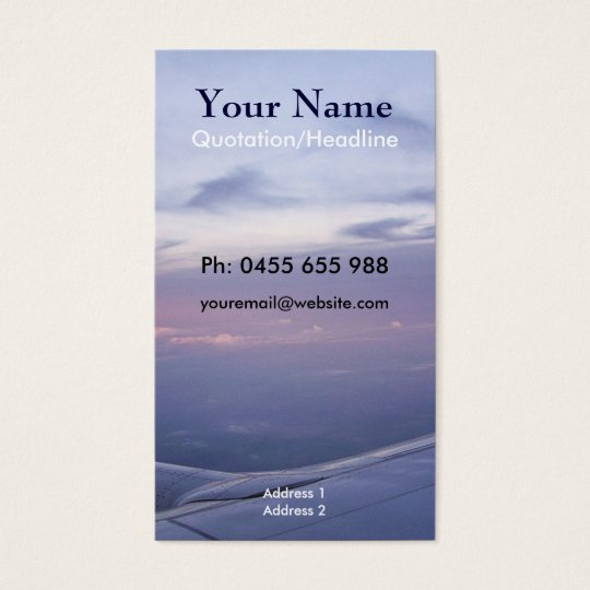 Travel Business/Profile Card