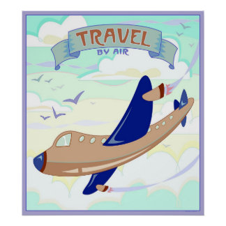 Travel By Air Poster