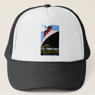 Travel by C and A and Union Lines Trucker Hat