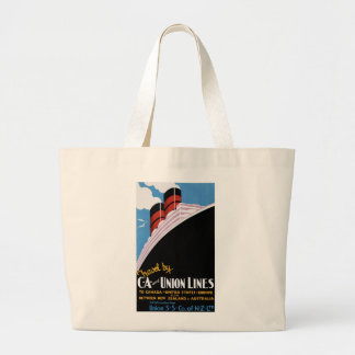 Travel by CA and Union Lines Canvas Bags