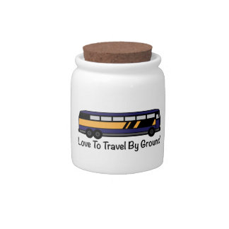 Travel by Ground Candy Dish