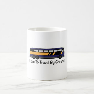 Travel by Ground Coffee Mugs