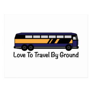 Travel by Ground Postcard