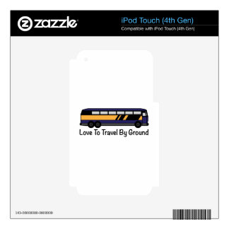 Travel by Ground iPod Touch 4G Decals