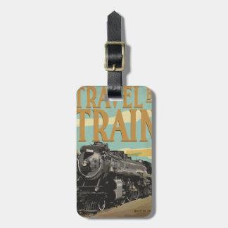 Travel By Train Luggage Tag