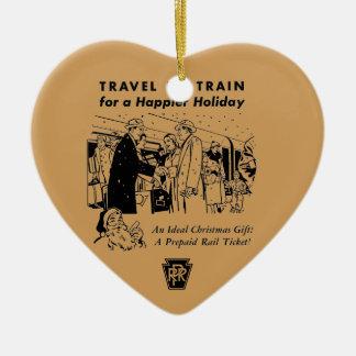 Travel By Train-Pennsylvania Railroad Ceramic Ornament