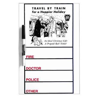 Travel By Train-Pennsylvania Railroad Dry Erase Board